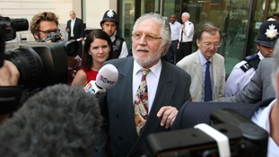 Dave Lee Travis outside Westminster Magistrates' Court.
