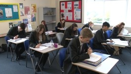 Sixth formers in Bishop Hedley High School