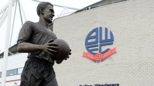 New Nat Lofthouse statue outside the the Reebok Stadium