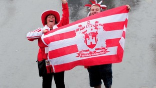 Wigan Warriors fans arrive