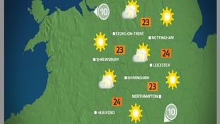 Lots of hazy sun in store for Bank Holiday Monday afternoon