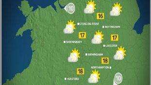 Bank Holiday Monday morning will be quite cloudy, with sun developing later on