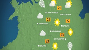 Tuesday afternoon's weather