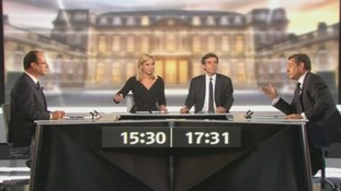 French presidential rivals clash in televised debate