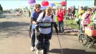 Claire Lomas is running the London Marathon wearing a bionic suit