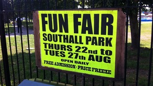 Sign at funfair