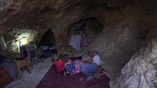 Palestinian family move into cave after their makeshift home is demolished