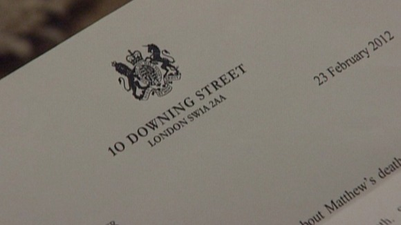 Downing Street letter to the Cryer family