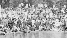 Civil rights demonstrators in Washington, D.C., on 28 August, 1963.