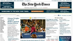 The New York Times' website was attacked by a group claiming to be the Syrian Electronic Army.