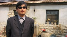 Blind legal activist Chen Guangcheng is seen in this undated picture