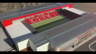 graphic of new Bristol City stadium