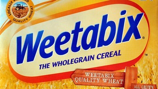 Front of a box of Weetabix
