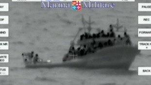 Italian coastguard released images of one of the rescues.