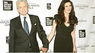 Michael Douglas and Catherine Zeta Jones pictured together in April this year.