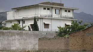 Osama bin Laden's Pakistan compound where he was killed last year.
