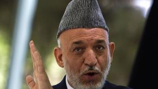 Afghanistan's President Hamid Karzai.