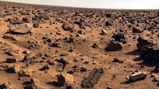 The surface of Mars.