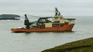 This dive vessel was involved in the salvage of the Super Puma helicopter off Shetland.