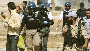 UN chemical weapons experts are in Syria assessing sites of alleged attacks.