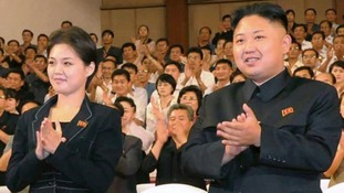 North Korean leader Kim Jong-un with his wife Ri Sol Ju.