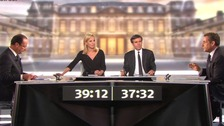 A television debate between French presidential candidates Hollande and Sarkozy took place last night.
