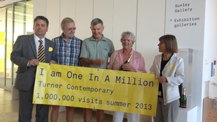 millionth visitor in gallery