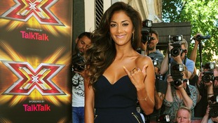 Nicole Scherzinger arrives at the X Factor launch.