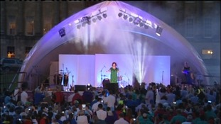 Susan Boyle at the Special Olympics
