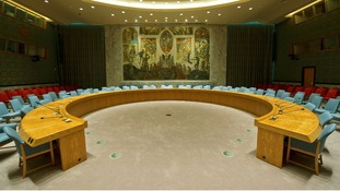 The UN Security Council Chamber in New York.