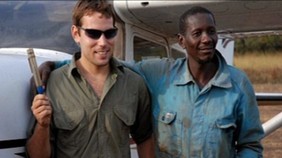 David Simpson (left), 24, is being detained n the Central African Republic after discovering bodies near a local river
