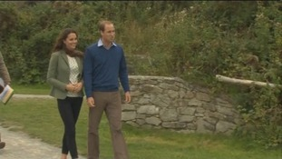 Kate pictured on first public visit since birth of royal baby.