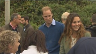 The Duke and Duchess of Cambridge chat to locals.