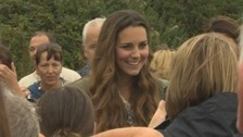 The Duchess of Cambridge chat to locals.