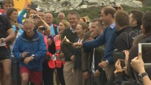 The Prince rings a bell to start the mammoth marathon.