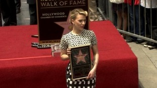 Scarlett Johansson's star shines in Hollywood