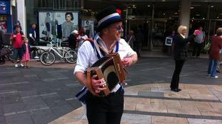 Morris men celebrations in Leicester