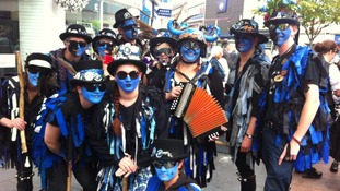 Morris men celebrations in Leicester