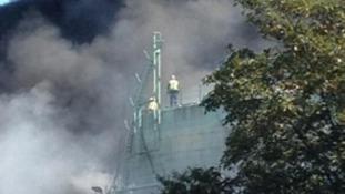 Smoke from fire in Gravesend