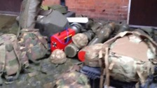 Brian Whelan says the military equipment was left unguarded for just under a minute.