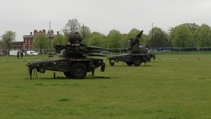 Rapier missiles on Blackheath Common.