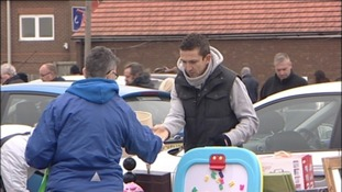 Professional footballer forced to sell at car boot