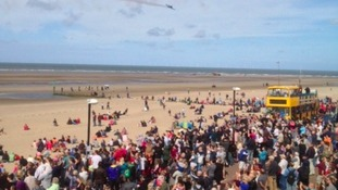 Crowds at beach