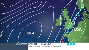 Low Pressure moves in on Friday bringing unsettled and cooler weather