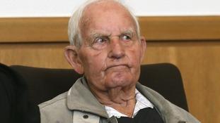 Siert Bruins, a suspected Nazi war criminal, in court today.