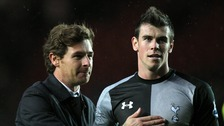 Tottenham Hotspur's manager Andre Villas Boas and Gareth Bale