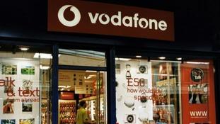 A Vodafone shop.