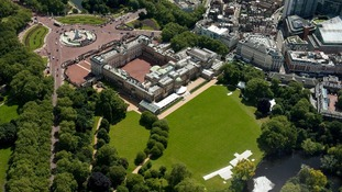 The gardens of Buckingham Palace will become a temporary football ground