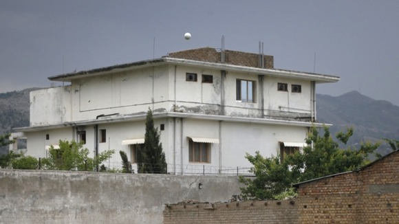 Osama bin Laden's Pakistan compound where the documents were seized.