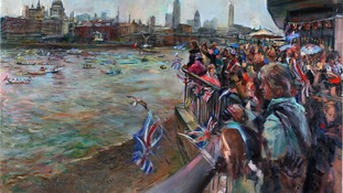 Jubilee River Pageant art goes on display